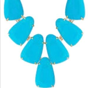 Kendra Scott Turquoise Gold Harlow Necklace